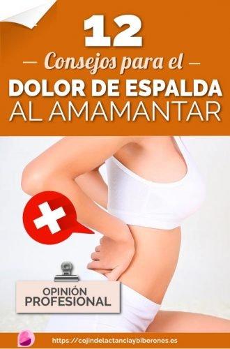 consejos para el dolor de espalda durante lactancia